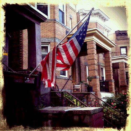 unpatriotic display of american flag in weehawken